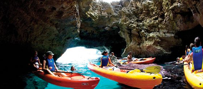 Explore the caves in Formentera with a kayak
