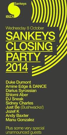 SANKEYS CLOSING PARTY - SANKEYS 20
