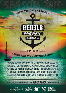 REBELS BOAT PARTY