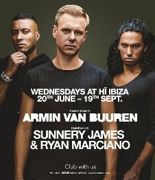 ARMIN VAN BUUREN / SUNNERY JAMES & RYAN MARCIANO OPENING PARTY