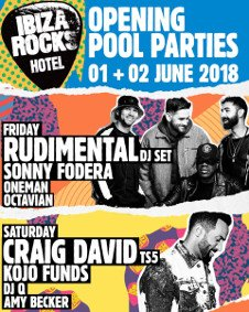 IBIZA ROCKS HOTEL OPENING POOL PARTY - DAY 1