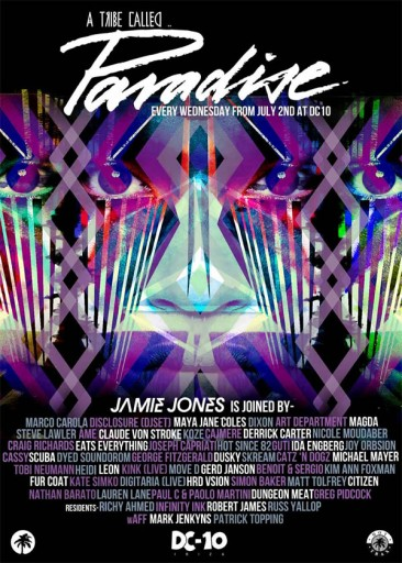 Jamie Jones Paradise DC10 – full Iine up 2014