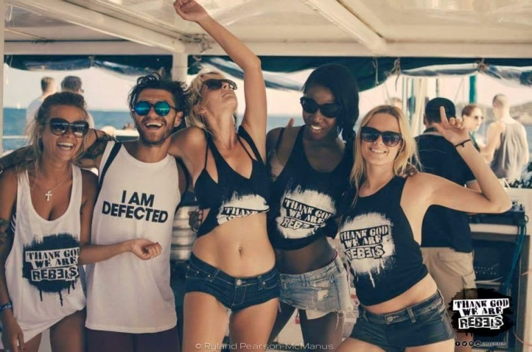 Get Rebellious at sea with the Rebels – best boat party in ibiza!
