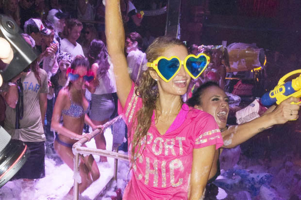 Paris Hilton brings back Foam & Diamonds to the White Isle