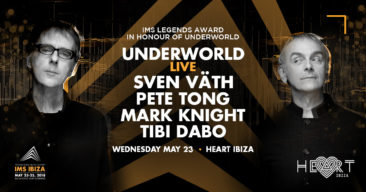 UNDERWORLD TO PERFORM LIVE EXCLUSIVELY AT IMS IBIZA