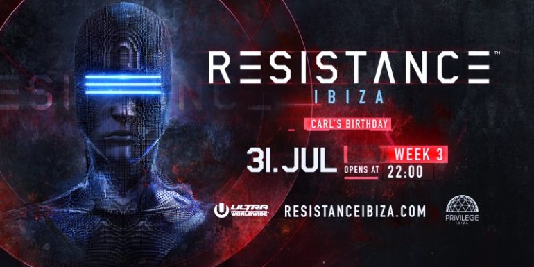 CARL COX TO CELEBRATE HIS BIRTHDAY AT RESISTANCE IBIZA